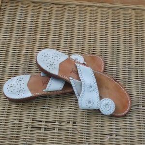 Jack Rogers white sandal 8